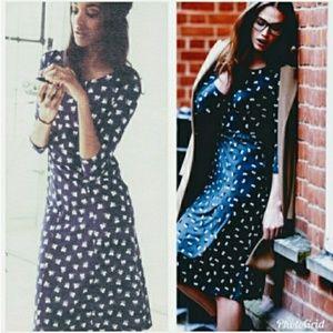 Boden | Navy Pimlico Floral Jersey Dress (Size 6R)